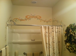 Guest Bath Custom Painting