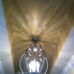 Metallic Tray Ceiling