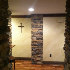Faux Stone Walls